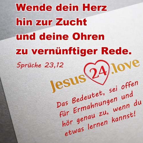 Sprüche 23,12